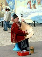 Bandura - Ukrainian plucked string folk instrument