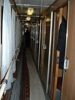 Coupe, 2nd class compartment, hall