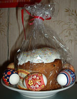 Easter Cake Paska and Pysanky